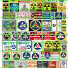 9002 - Fallout Shelter Cold War Civil Defense Signage