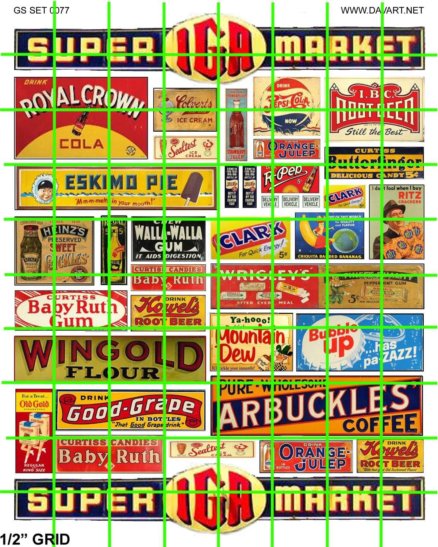 5014 - IGA Super Market Grocery Signage and Advertising