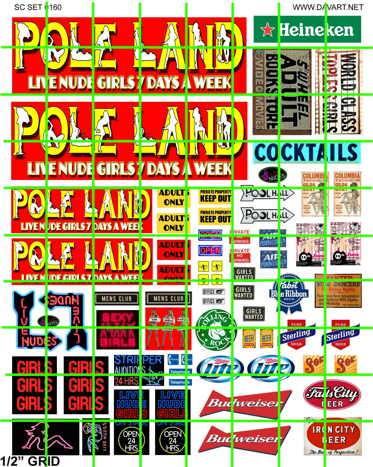 7008 - POLE LAND Live Nudes Adult Entertainment Set