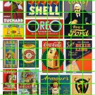 5036 - Late Steam Era 1890's to 1930's assorted signage and advertising SHELL OREO FORD
