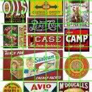 5044 - 1890's to 1930's Steam Era asst'd signs & ads Oil, Wrigleys, Sunbeam, Shell Singer