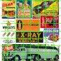 5046 - 1900's to 1940's Steam Era asst'd signs & ads MACK X-RAY KOOL-AID CRUSH CHERRIO