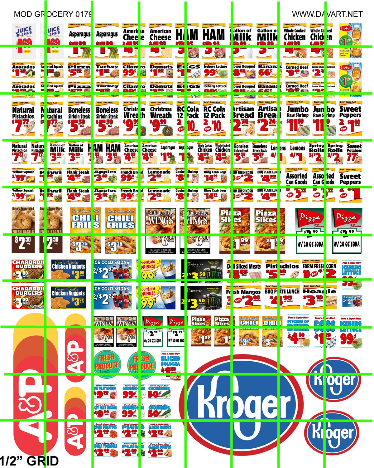 7019 - MODERN GROCERY STORE PRICE SIGNAGE