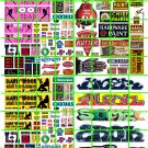 N030 - 2 STRIP CLUB SIGNAGE GRAFFITI PAINT ADVERTISING SET