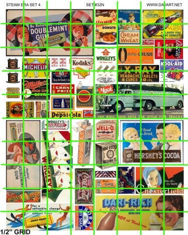 N032 N SCALE MACK WRIGLEY's HERSHEY'S BILLBOARD ADVERTISING SIGNAGE