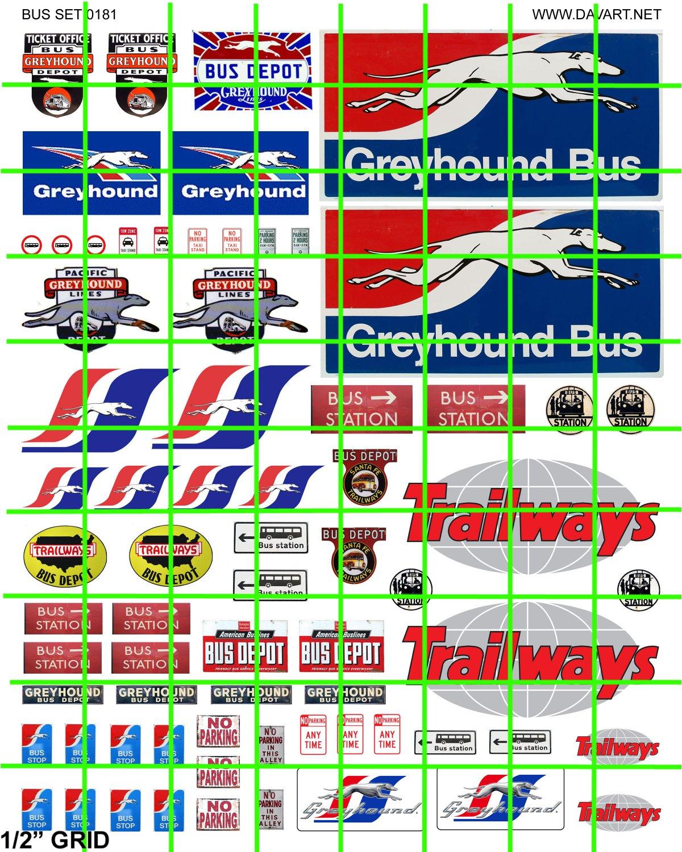 7016 - GREYHOUND TRAILWAYS BUS DEPOT ADVERTISING SIGNAGE