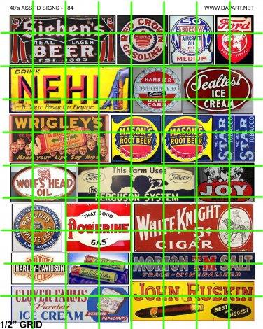 5062 - Assorted Older Advertising Signage Mid Century
