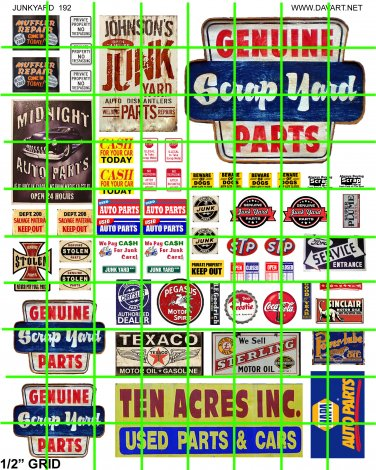 7014 -  JUNK YARD SCRAP YARD SIGNAGE ADVERTISNIG