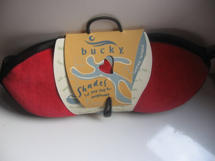 Bucky Shades Sleep Mask Eye Mask -- Ruby Red