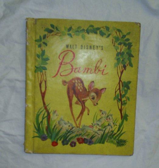 Vintage BAMBI Walt Disney Grosset & Dunlap Book 1942