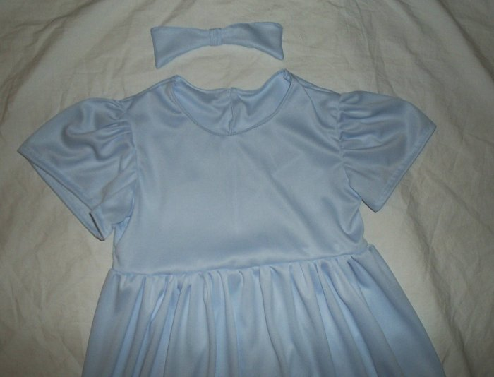 New Wendy from Peter Pan Halloween Costume Dress & Hair Bow Little Girls Size 3