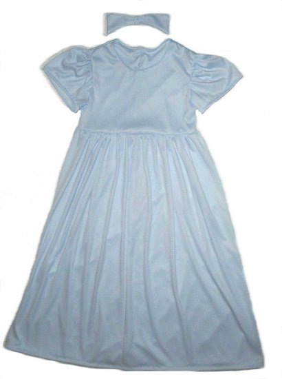New Wendy from Peter Pan Halloween Costume Dress & Hair Bow Little Girls Size 4-5