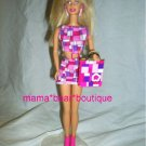 Barbie Pop Art Doll Pink Geometric Dress Boots Tote Bag