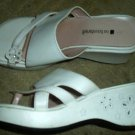 White Platform Wedge Heeled Sandals Easter Shoes Girl Size 4.5 4 1/2