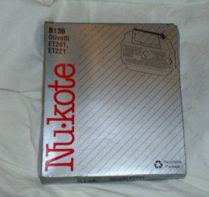 Nukote B136 Black Printer Ribbon Olivetti ET201 ET221 ET231