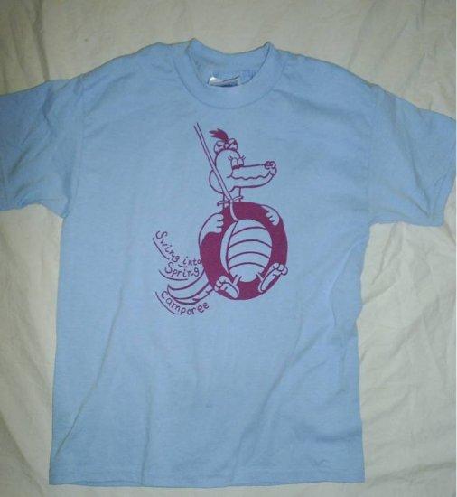 GIRL SCOUT Uniform Camp Blue T-Shirt Top Medium M 10-12