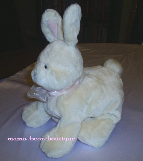 """Baby Gund Buffy Bunny Rabbit Easter 12"""" Plush Toy w Pink Bow 36267"""