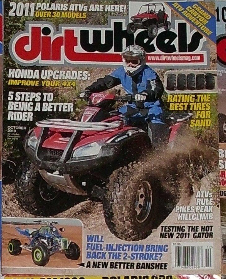 1 Back Issue Dirt Wheels Magazine October 2010