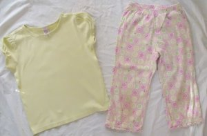 GYMBOREE Lemony Fresh Capri Pants Top Outfit Set Girls Size 9