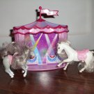Barbie Miniature Horses mini Circus Horse Travel Play Set