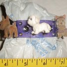 Puppy in My Pocket Purple Charm Bracelet with 3 snap-on Dogs