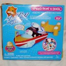 New Zhu Zhu Pets Speed Boat & Dock ZuZu Zu Add On Set