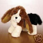 New Webkinz Lil Kinz Basset Hound Dog unused code Stuffed animal Ganz HS013 with clothes