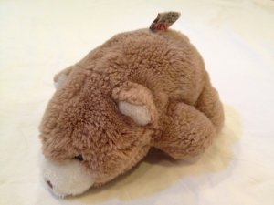 "Vintage 1980 7"" Gund small Tan/Light Brown Bear Snuffles lovie lovey toy plush 80's"