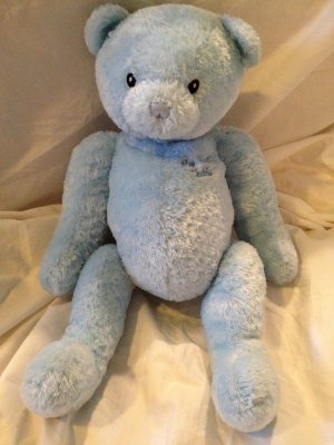 "Baby Gund My First Teddy Bear 15"" Blue Plush Stuffed Toy 5835"