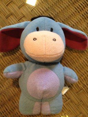"Disney Eeyore Fisher Price 9"" Blue Plush Stuffed Toy 2006 Mattel Vintage"