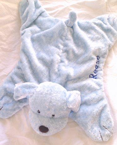 Gund Comfy Cozy Puppy Personalized REESE Blue Plush Baby Boy Toy Lovie Security Blanket 5846