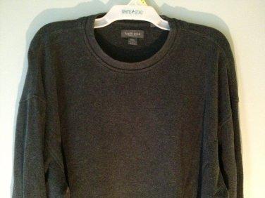 Van Heusen Men Size XXL Gray Knit Shirt Long Sleeve Pullover xx-large
