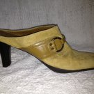 Aerosoles Suede Heels Mules Women Size 9 Beige Leather Shoes Snapezoid