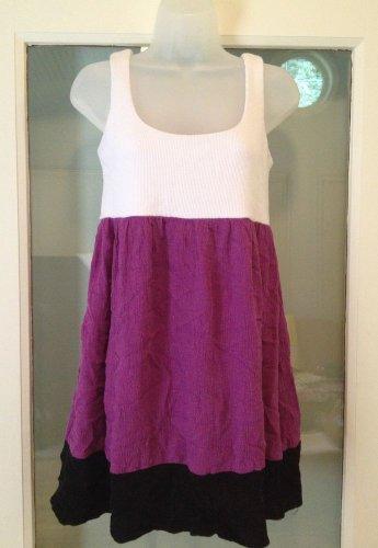 Tiana B. Tank Mini Dress Women's Size 4 Color block Empire Waist Sundress USA