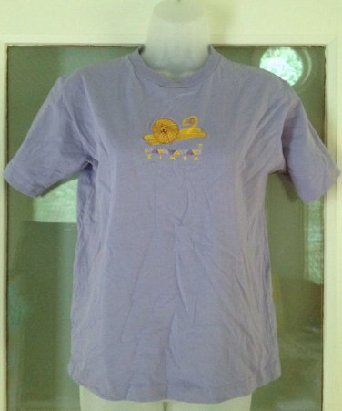 Lion King Simba T-shirt Size L Embroidered Graphic Top Tee OneWay Purple