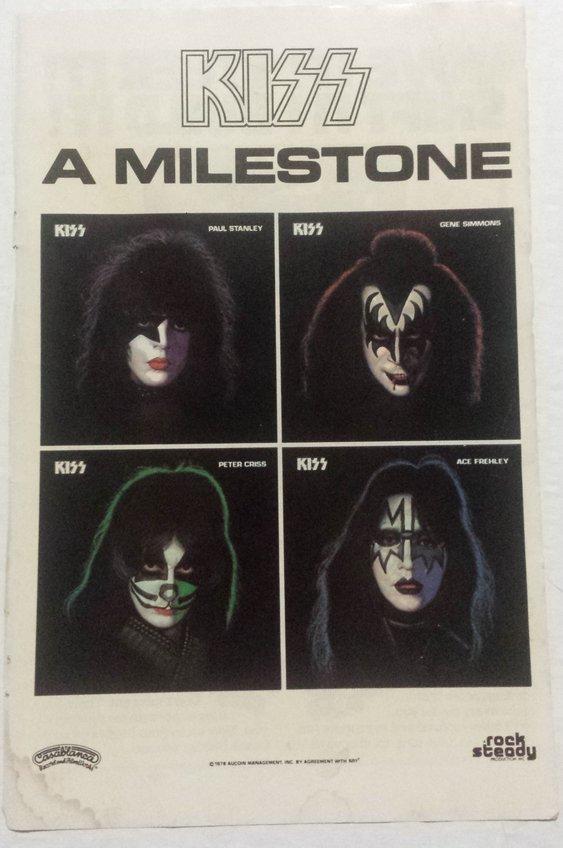 1978 KISS 4 solo album release vintage print ad