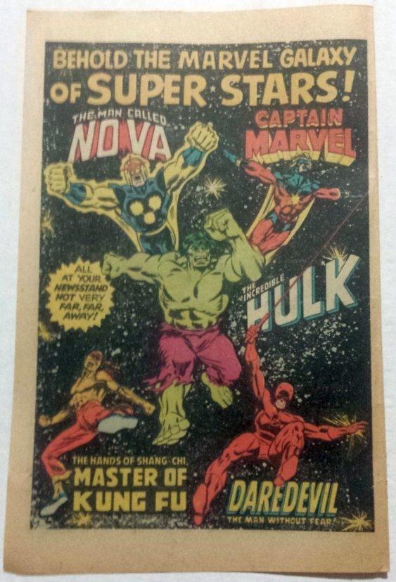 MARVEL HEROS VINTAGE COMIC BOOK AD INCREDIBLE HULK 1979