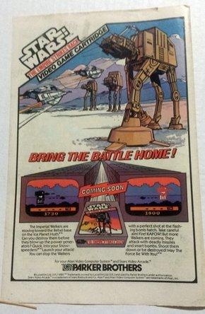 Star Wars:ESB VIDEO GAME 1983 Print Ad Marvel Comic PARKER BROTHERS