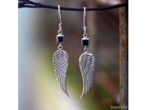 925 Sterling Silver Wings 45mm Dangle Earring Balines ES11