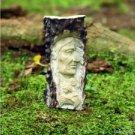"Hand Carved Indian 3"" Natural Deer Antler Carving Pendant Bead Necklace AP1495"