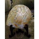 "Hand Carved Saraswati Goddess 6.7"" Mother of Pearl Seashell Table Decor Art"