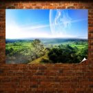Summer Moon Reflection Poster 36x24 inch