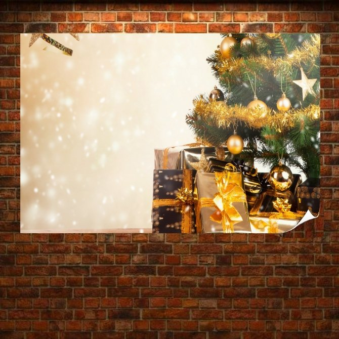Ready Christmas Tree Poster 36x24 inch