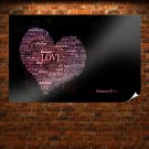 Words Of Love Poster 36x24 inch
