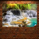 Waterfall In Thailand Poster 36x24 inch
