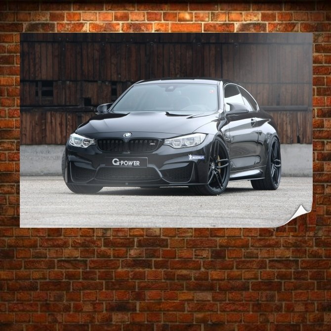 Bmw M4 G Power Poster 36x24 inch