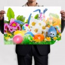 Handcrafted Easter Eggs Poster 36x24 inch