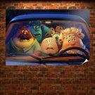 Pixar Monsters University Film Poster 36x24 inch