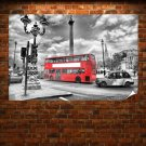 Black And White London Poster 36x24 inch