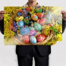 Painted Easter Eggs Poster 36x24 inch